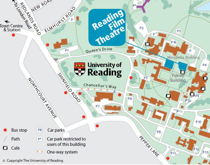 Map of UoR campus