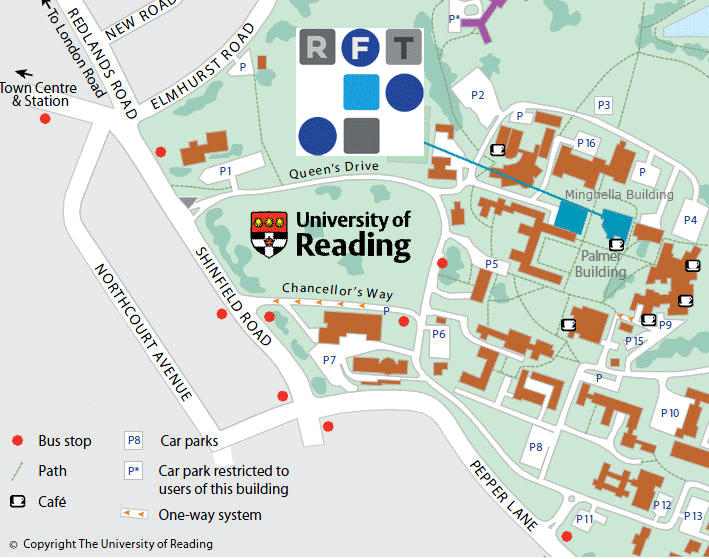 Reading University Campus Map Reading Film Theatre – How to Find Us